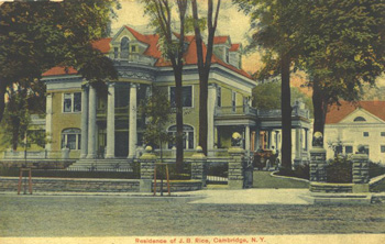 Rice Mansion postcard